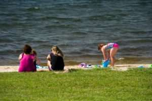 A family at a recreation park in Lake Anna, VA