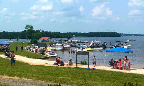 One of our beaches at Lake Anna